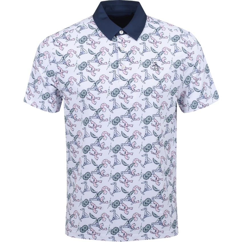 Shrimp Cocktail Anyone Polo Bright White - SS21