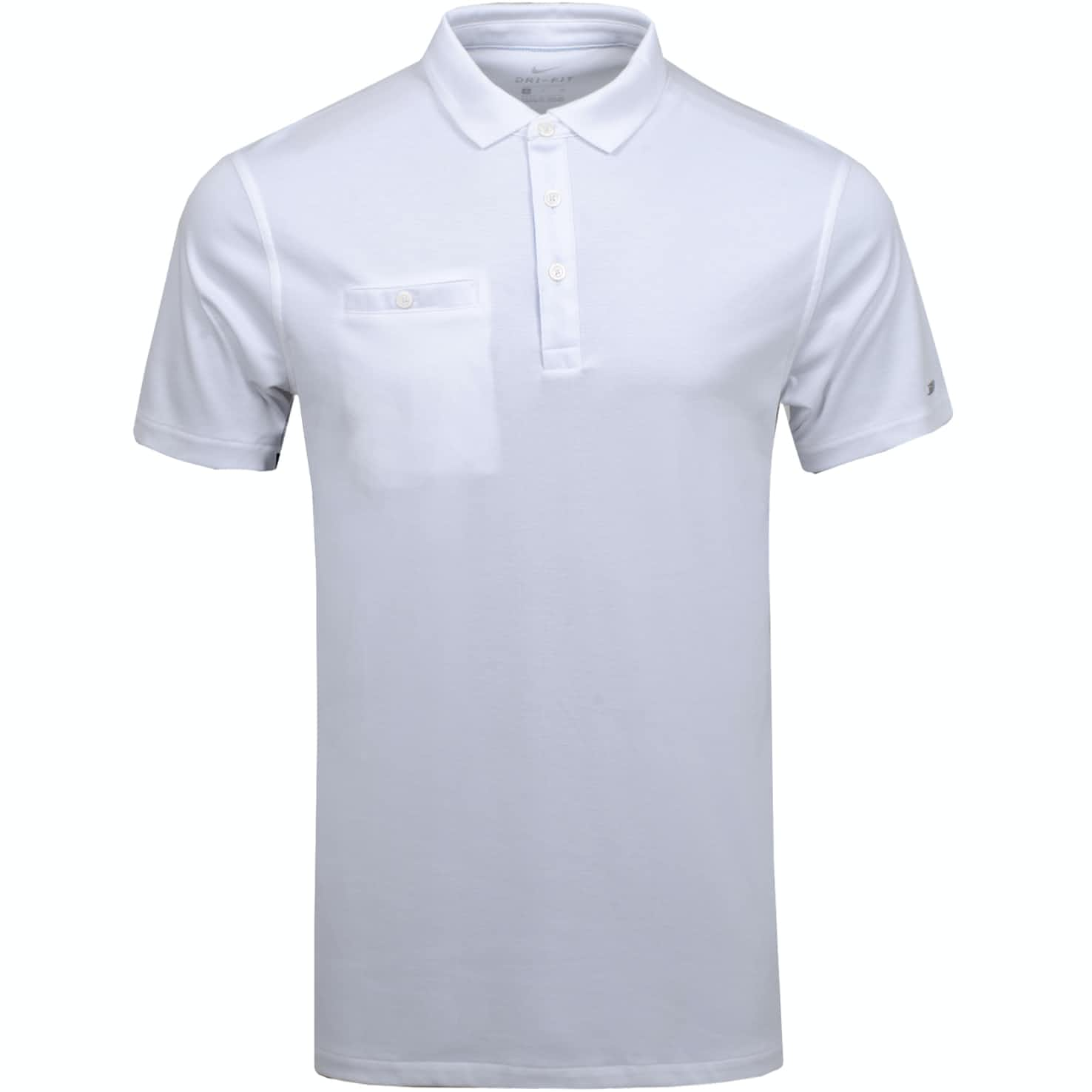 Dri-Fit Player Solid Polo White/Brushed Silver - Summer 19