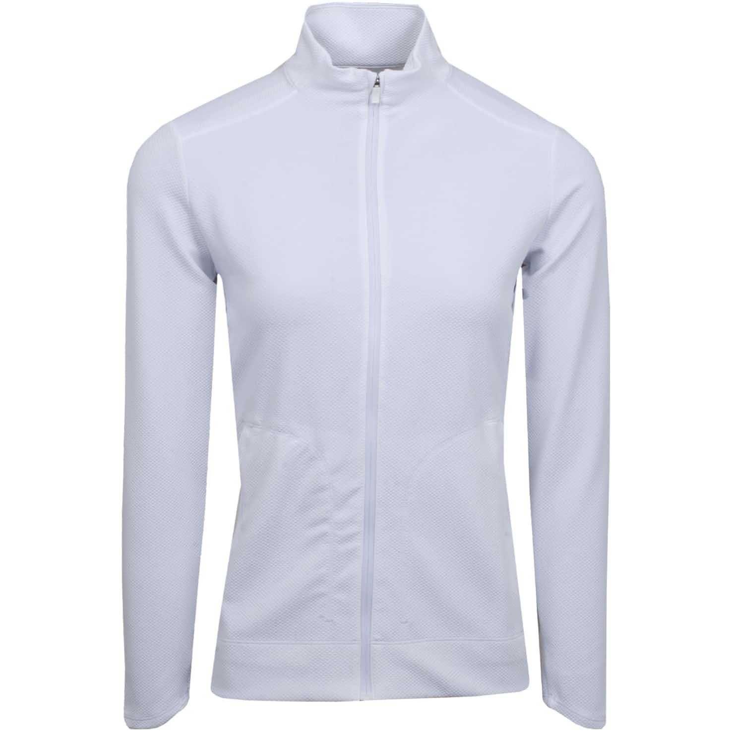 Womens Dry UV Full Zip Mid White - Summer 19