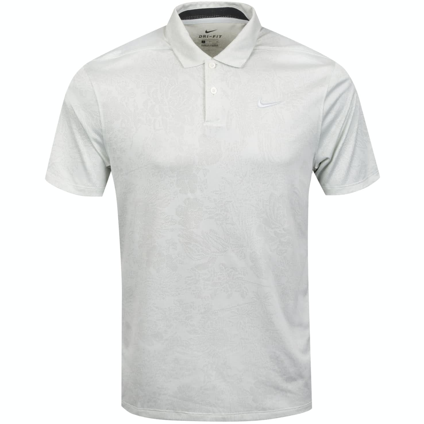Breathe Vapor Jacquard Print Polo White/Pure Platinum - AW19