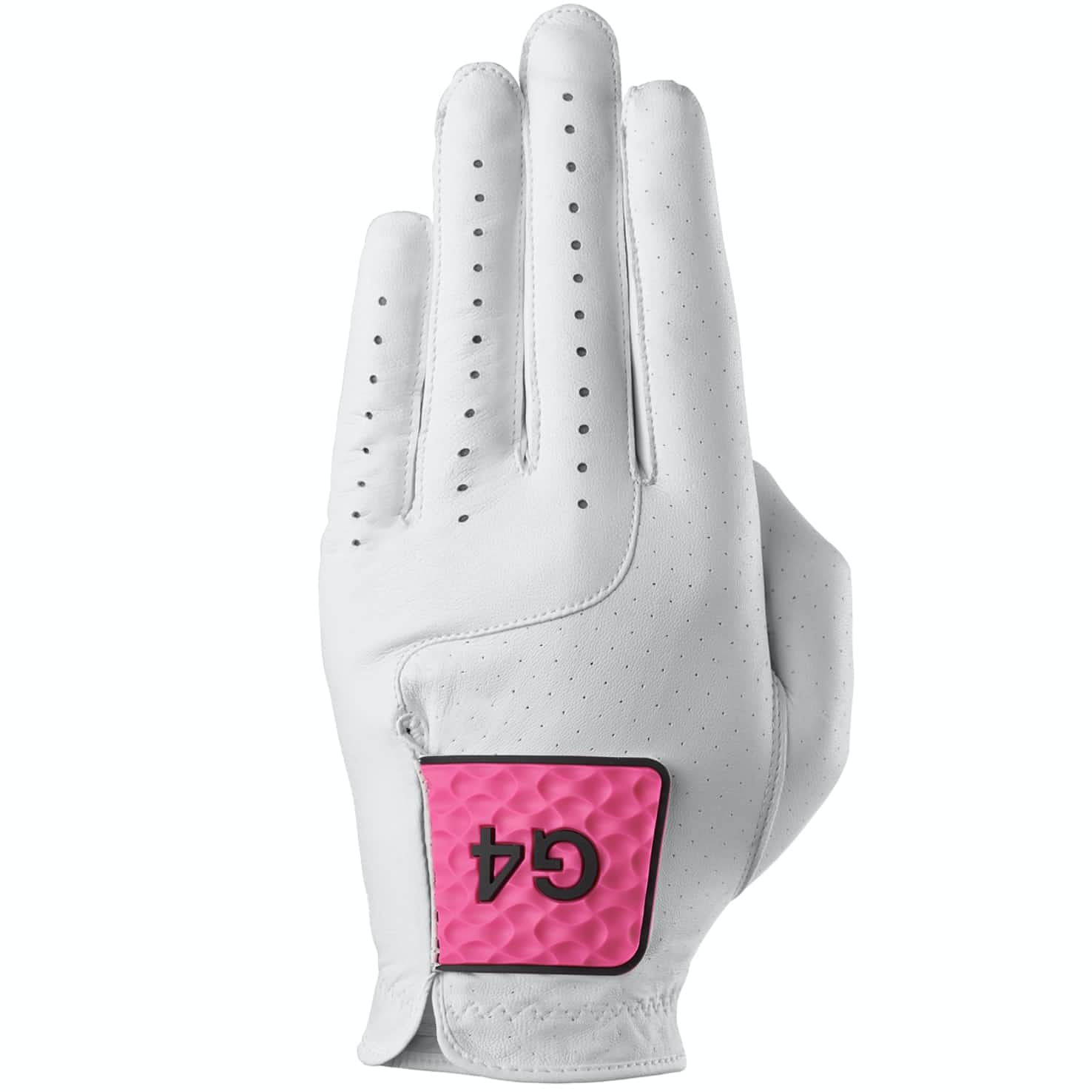 MG4.1 Left Glove Snow/Day Glo Pink - 2020